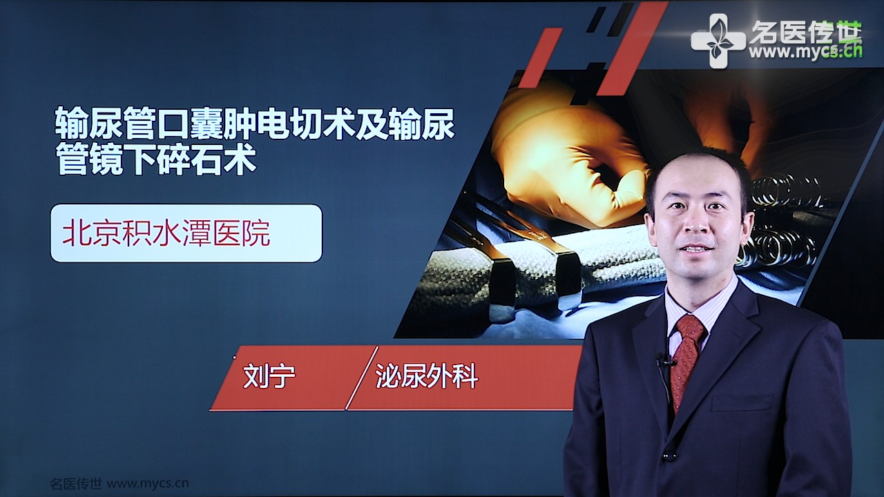 刘宁:输尿管口囊肿电切术及输尿管镜下碎石术(第1P-总2P)
