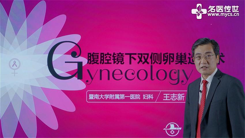 王志新:腹腔镜下双侧卵巢造口术(第2P-总2P)