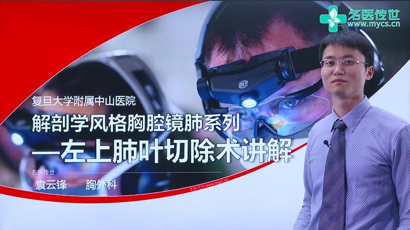 袁云锋:解剖学风格胸腔镜肺系列—左上肺叶切除术讲解