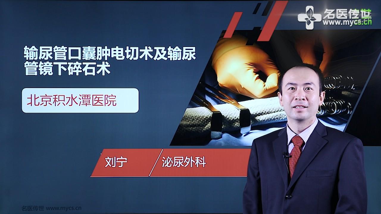 刘宁:输尿管口囊肿电切术及输尿管镜下碎石术(第2P-总2P)