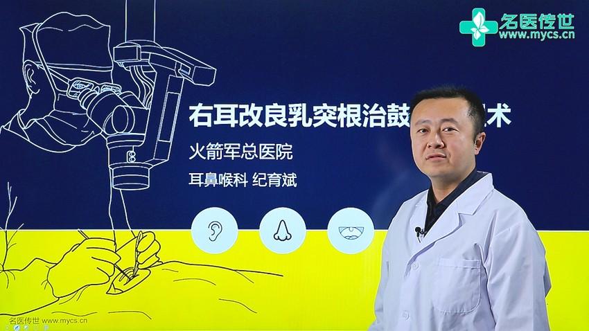纪育斌:右耳改良乳突根治鼓室成形术(第2P-总2P)
