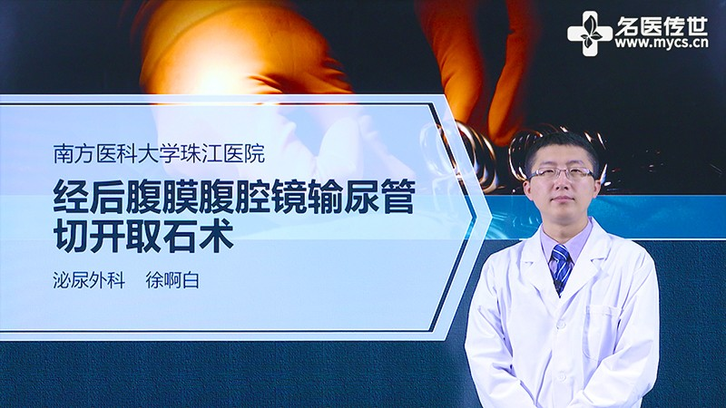 徐啊白:经后腹膜腹腔镜输尿管切开取石术(第2P-总2P)